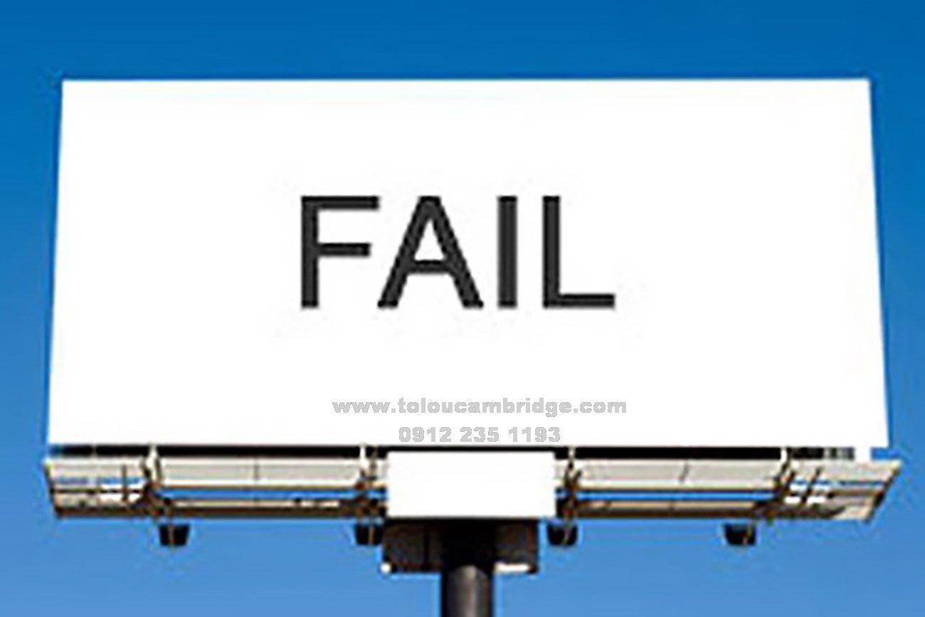 آموزش اشتباهات رایج fail در انگلیسی