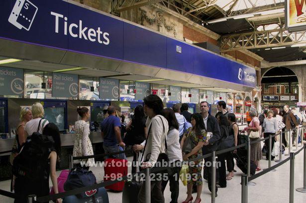 مکالمه حمل و نقل زمینی به انگلیسی ticket-rail-way-conversation