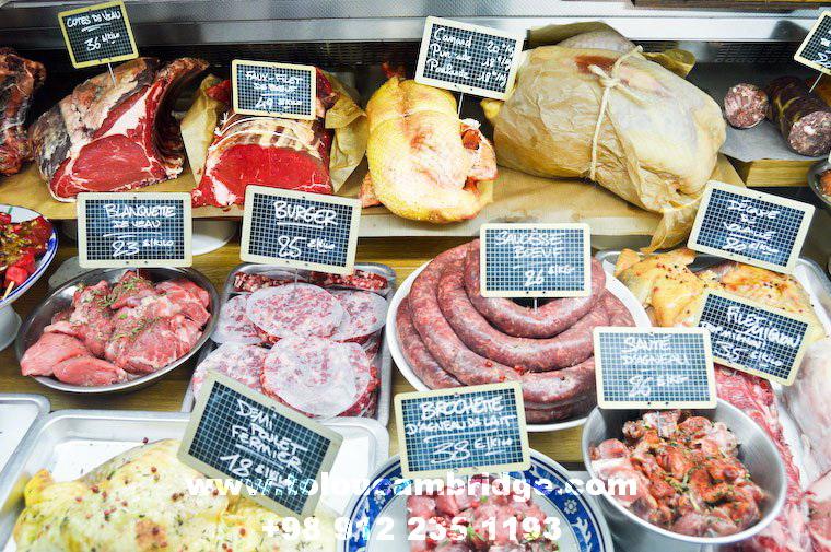 آموزش انواع گوشتها به زبان فرانسه French butcher stall