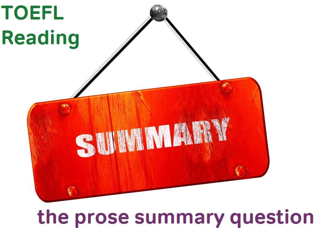 آموزش Sentence Summary Questions آزمون تافل toefl