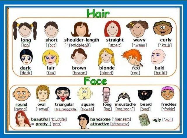 تدریس کلمات توصیفی ظاهری زبان انگلیسی