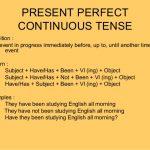 جملات حال کامل استمراری در زبان انگلیسی